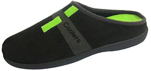 Coolers Chaussons pour homme avec semelle à mémoire de forme Tailles 41-46 Noir