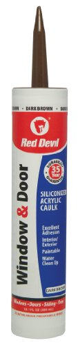 Red Devil 084640Fenster & Tür silikonisiertes Acryl Caulk Fugenfüller, 10.1-ounce, dunkelbraun