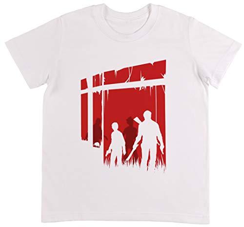 Zuletzt Menschen Weiß T-Shirt Jungen Mädchen Größe 2XS | Unisex Kids White T-Shirt Size 2XS (Of Clicker Us Last The)