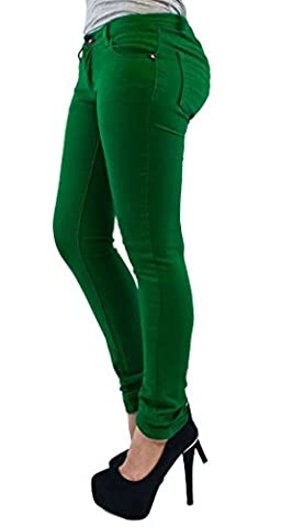 New Ladies Womens Skinny Jeans Jegging Jade green