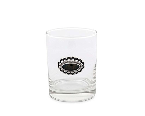 Vagabond House Concho Double Old Fashion Bar Glas 10,8 cm hoch 1 Double Old Fashioned