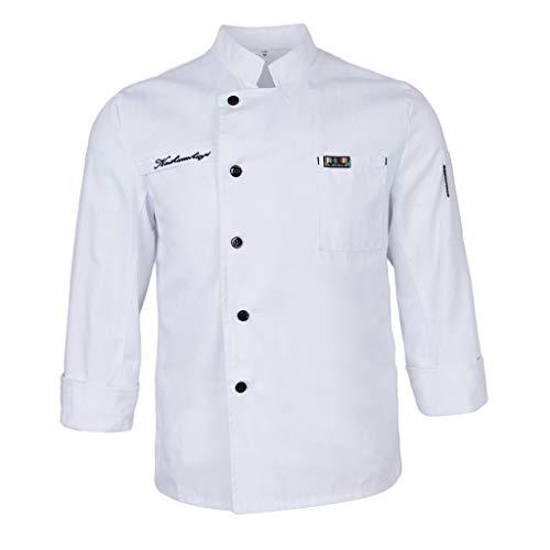Giacca Cuoco con Nome Ricamato Personalizzabile Online Modello Durango Nero Sushi Isacco Abbigliamento da lavoro e divise XXL Abbigliamento