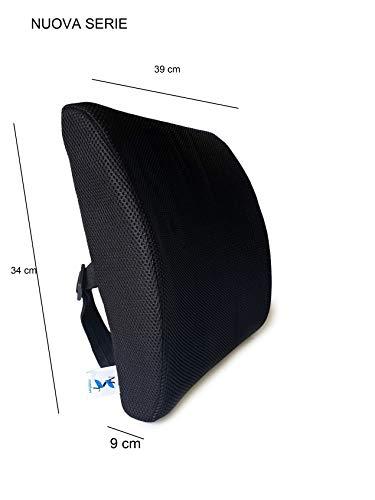 Lombare Rückenlehnenkissen für Auto, Bürostuhl, Sofa, Reisen - Rückenlehne, Rückenlehne, abnehmbar, atmungsaktiv, waschbar, aus Memory Foam