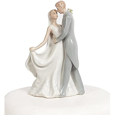 Wedding Collectibles, Sposa elegante in porcellana di matrimonio e lo sposo primo bacio - Sposo In Porcellana Wedding Cake Topper