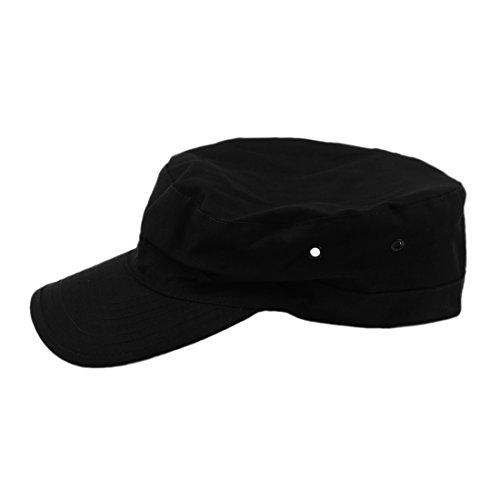 SODIAL (R) armee militaire Sun urbain Visiere Lady Hat Hommes Camo Camouflage Jungle Baseball - Noir