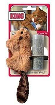 Kong Biber-Spielzeug, nachfüllbares Katzenminze-Spielzeug, Farben variieren, enthält qualitativ hochwertige, natürliche Katzenminze -