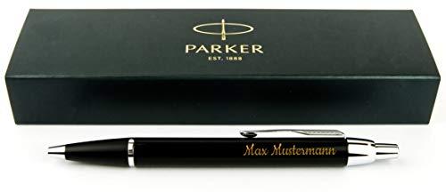 Geschenkfreude Parker IM Kugelschreiber mit Gravur hochwertig/bestandene Prüfung Geschenk/personalisierte Geschenke/blauschreibend (Personalisierte Geschenk Kugelschreiber)