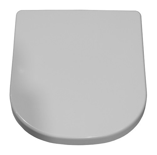 Keramag WC-Sitz iCon mit Toilettendeckel, hochwertiger Toilettensitz mit Absenkautomatik und Scharnieren aus verchromtem Messing, weiß, Art.Nr. 574130000