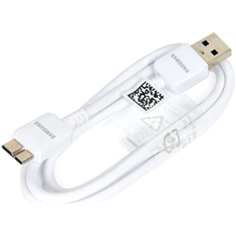Genuine Samsung Galaxy Note 3 III Micro USB 3.0 4GB/s Data Sync Charger Cable White New ET-DQ10Y0WE