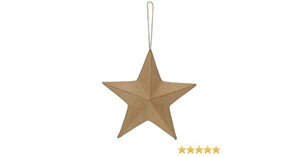 Papier-M/âch/é Brown 13 x 13 x 2 cm Efco Cardboard Star 5 Pointed /ø 13 cm