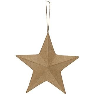 efco–Decoración de cartón Estrella de 5″, Papel maché, marrón, 13cm