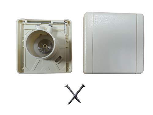 Zentrale Saugdose, quadratischer Deckel, 9 x 9 cm, Beige