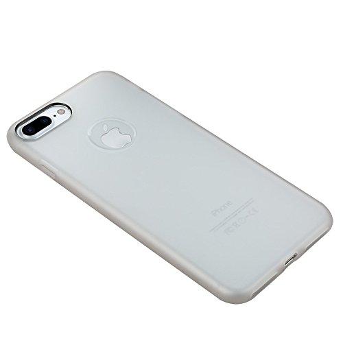 Wkae Benks Skin Serie TPU Ultra-dünner Schock-beständiger Schutzhülle für iPhone 7 Plus ( Color : White ) White