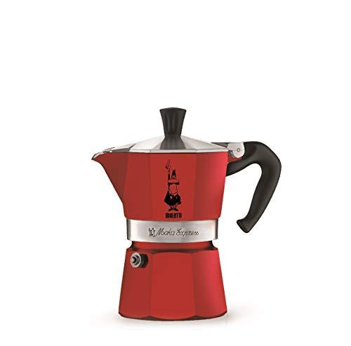 Bialetti Moka Color Espressokocher Aluminium, Aluminum, Rot, 3 Tassen -