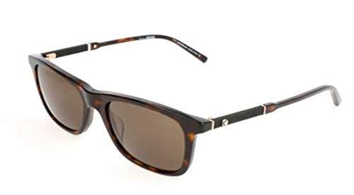 Montblanc Herren Mont Blanc Sunglasses Mb606S 52E-54-18-145 Sonnenbrille, Braun, 54