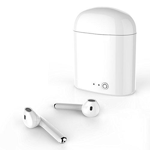 Kabellose Bluetooth,Mini kabellose Headsets Ohrhörer Sport Kopfhörer mit Noise Cancelling Stereo Headset für iPhone X 8 7 6 Plus Samsung Galaxy S7 und Android