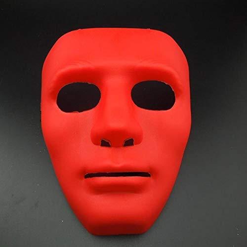 Hip Red Kostüm Tanz Hop - Halloween Halloween Maskerade Dress Up Maske Hip-Hop Tanz Requisiten Ball Party Kostüm Masken Cosplay Scary Solid (Color : Rot)