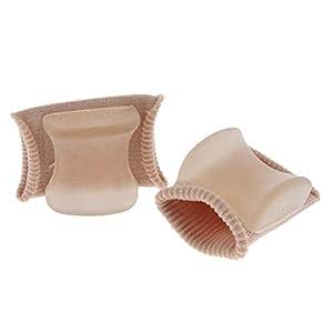 Fenteer 2 Stück Silikon Gel Zehenspreizer/Zehen Separator für Damen und Herren zum Schutz – Zehenstrecker zur Hallux Valgus Korrektur, Zehenkorrektur