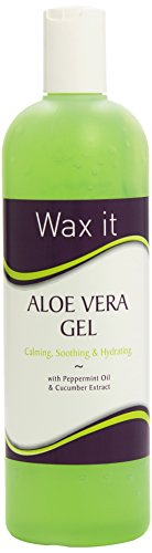 Waz it - Gel de aloe vera con extracto de aceite de menta y pepino (500 ml)