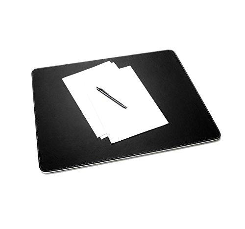 Sigel SA106 Schreibunterlage eyestyle aus hochwertigem Leder-Imitat, schwarz / weiß - weitere Farben