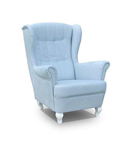 mb-moebel Ohrensessel Fernsehsessel Wohnzimmer-Sessel Relax-Sessel Loungesessel Armsessel - Stanford (Blau)