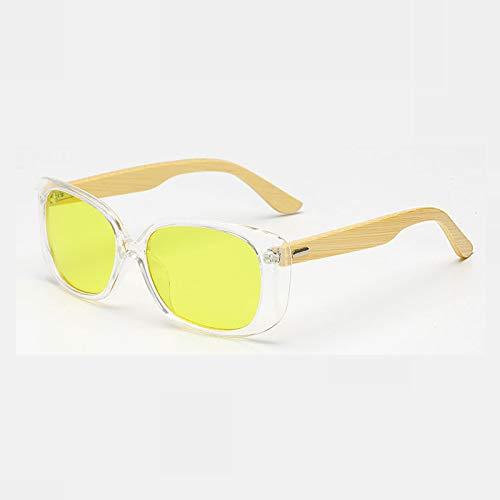 YLYZJH Holz Bambus Sonnenbrille Männer Frauen Gespiegelt UV400 Sun Holz Shades Gold Blau Outdoor Brille Sunglases Männlich