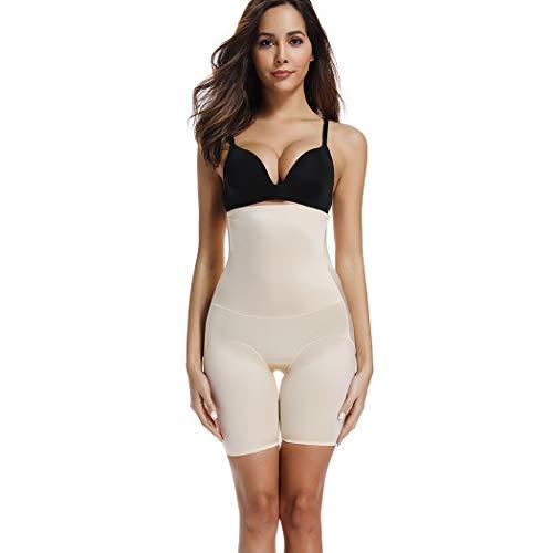 Joyshaper Miederhose Damen Bauch Weg Stark Formend Miederpants mit Bein Hohe Taille Taillenformer Shaper Shapewear angenehme Figurformende Unterwäsche Nahtlose (Beige 1, Small)