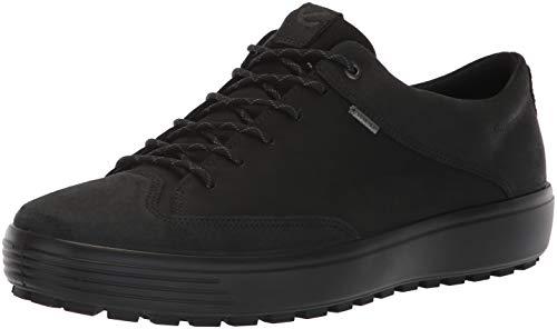 ECCO Herren Mens Soft 7 TRED GTX Tie Sneaker, Schwarz (Black 51052), 44 EU - Ecco Black Tie