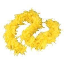 Boa di piume colore giallo pasqua