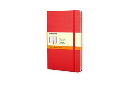Moleskine Classic - Cuaderno de tapa dura, color rojo