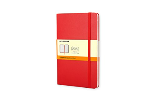 Moleskine Taccuino Notebook, Copertina Rigida, Tascabile, a Righe, Rosso