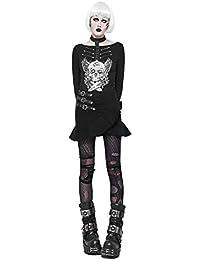 016d5b43788f1 Punk Steampunk Rock für Frauen mit Taschen Reißverschluss verschleißfesten  kurzen ...