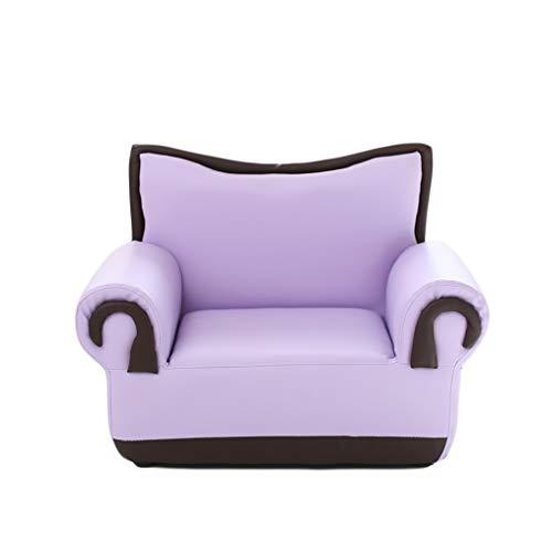 YONGJUN Kindersofa, Single Person Kunstleder Sessel Junge Mädchen Mit Niedlichen Casual Möbel 6 Farben Optional (Farbe : Lila)