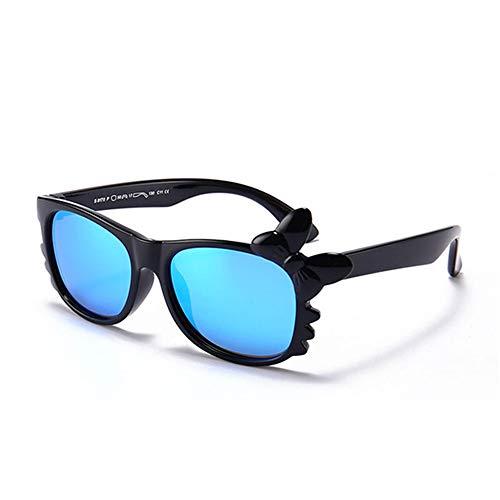 Wang-RX Mädchen Sonnenbrille Kinder Polarisierte Kinder Brille Spiegel Mädchen Schmetterling Flexible Brille UV400