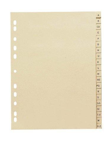 Register Vollformat DIN A4 A - Z 20-teilig (1 Pack = 10 Satz)