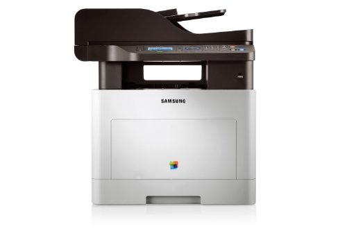 Samsung CLX-6260FR/SEE Farblaser-Multifunktionsgerät (Drucken, Scannen, Kopieren, Faxen, 9.600 x 600 dpi, 512 MB Speicher, 533 MHz Prozessor)