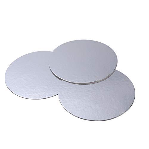 BESTONZON 3pcs Kuchen Pads Ungiftiger verdicken Karton runder Kreis Einweg-Kuchen Basispapier-Auflagen für - Pizzaöfen Für Zuhause