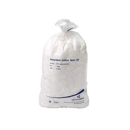 HOSPITAL QUALITY LARGE COTTON WOOL BALLS QTY 250 by DLT