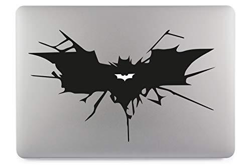 Batman Symbol Aufkleber Skin Decal Sticker Vinyl geeignet für Apple MacBook Air Pro Notebooks Laptops Apple, Auto, Glatte Oberflächen (13