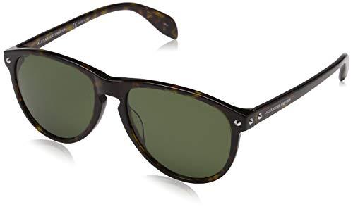 Alexander mcqueen am0098s 002 55, occhiali da sole uomo, marrone (002-avana/green)
