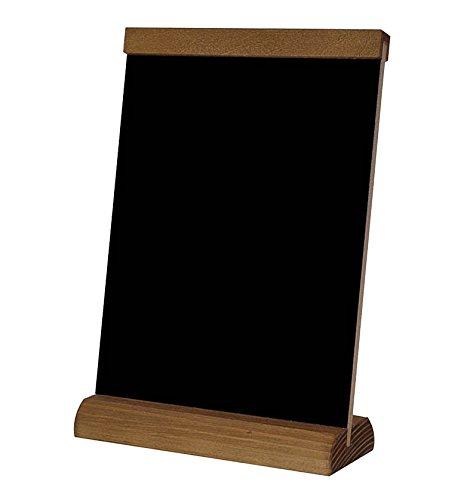 Lavagnetta/espositore di menù da tavolo in legno, formato A4, scrivibile con gesso su entrambi i lati A4 4
