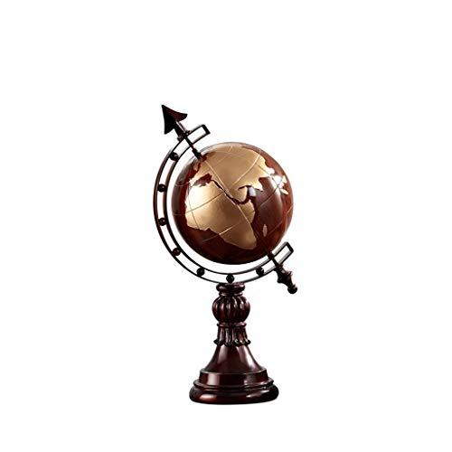 DONGXIN Bücherschrank Dekoration Globus Dekoration Retro Wohnzimmer Büro Dekoration Einrichtung Wohnaccessoires (Color : Red Wood)