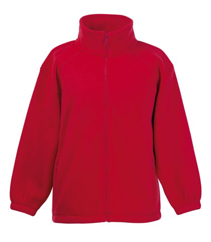Fruite of the Loom Kinder Full Zip Fleece Jacke, vers.Farben 152,Rot (Kinder Fleece Jacke)