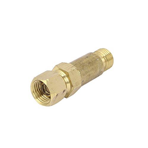 Gold Tone HF - 2 Stecker auf Buchse, Flashback Arrestor Acetylene Gas-Ventil -