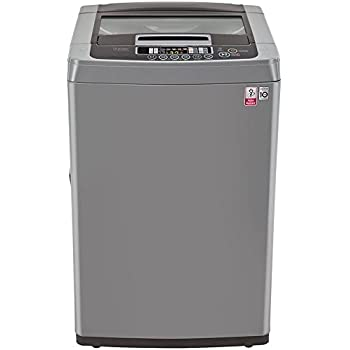 LG 6.5 kg Fully-Automatic Top Loading Washing Machine (T7567NEDLH, Middle Free Silver)