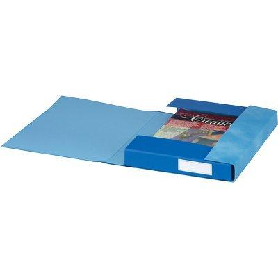 Gruppo 6 cartelle Essentials Esselte 3 lembi 25x32x4 cm blu S6005