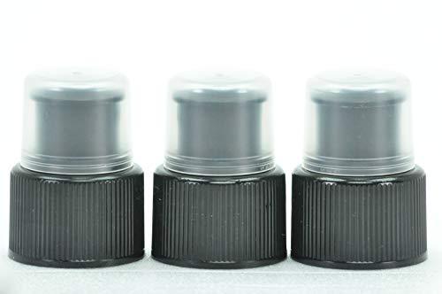 Unbekannt Zubehör für Trinkflaschen - Deckel Sportcap Ersatzverschluß (Flaschen - Deckel Cap Ziehverschluss (schwarz) 3er-Pack)