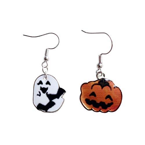GRRNUY Geek Halloween Kürbis Serie Ghost asymmetrische Frauen Ohrringe