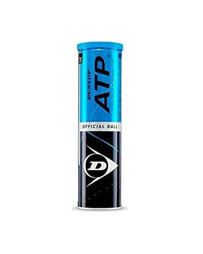 Dunlop - ATP - Tennisbälle - Unisex - Erwachsene - gelb - Dose mit 4 Bällen
