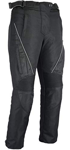 Australian Bikers Gear Jazz Black CE Armoured Vented Ladies Cordura Waterproof Trousers (W28 L30) - W28 L30
